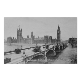 Westminster Bridge and the Houses of Poster