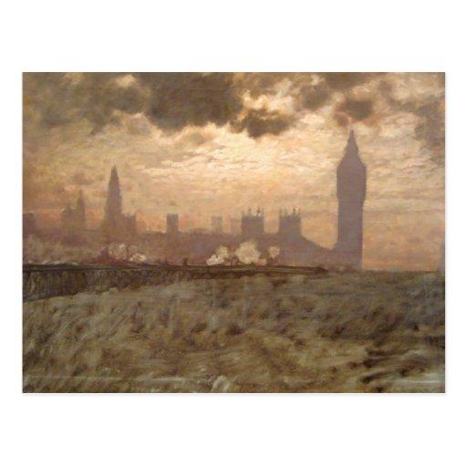 Westminster Bridge - Giuseppe de Nittis Postcard