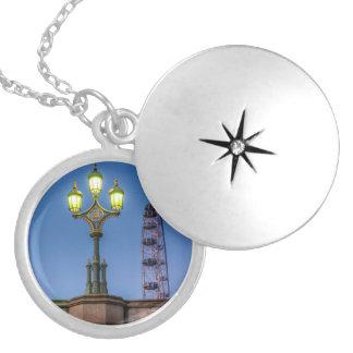 Westminster Bridge Lamp Locket Necklace
