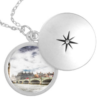 Westminster Bridge London Silver Plated Necklace
