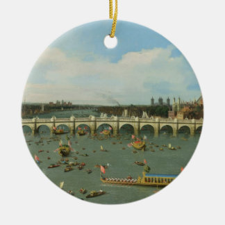 Westminster Bridge, London, With the Lord Mayor's Ceramic Ornament