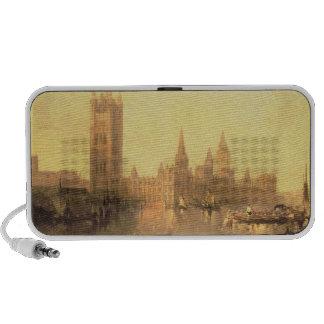 Westminster: Casas del parlamento, c.1860 (aceite  Notebook Altavoces