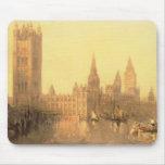 Westminster: Casas del parlamento, c.1860 (aceite  Tapetes De Ratones