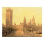 Westminster: Casas del parlamento, c.1860 (aceite Tarjeta Postal