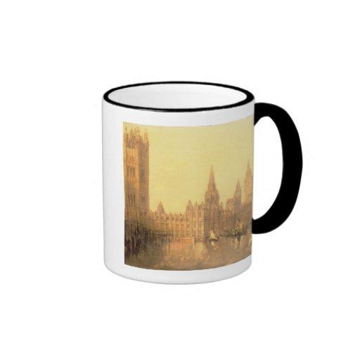 Westminster: Casas del parlamento, c.1860 (aceite  Tazas De Café