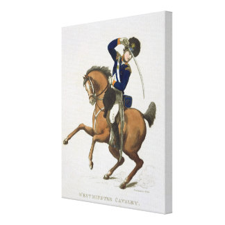 Westminster Cavalry Volunteer, plate 4 from 'Loyal Canvas Print