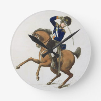 Westminster Cavalry Volunteer, plate 4 from 'Loyal Round Wall Clocks