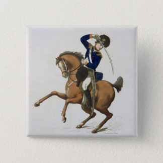 Westminster Cavalry Volunteer, plate 4 from 'Loyal Pinback Button
