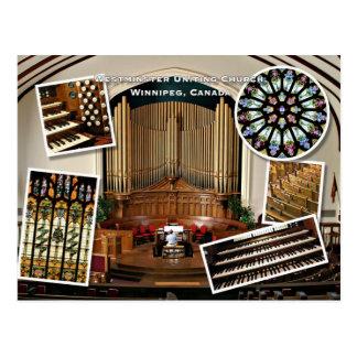 Westminster Church, Winnipeg montage Post Card