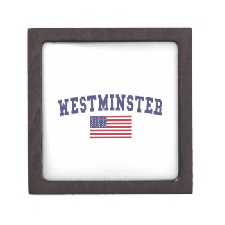 Westminster CO US Flag Jewelry Box