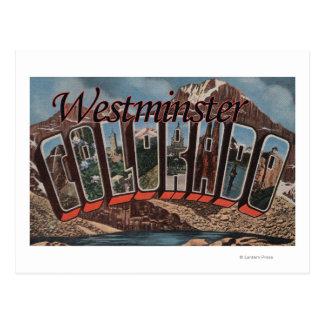 Westminster, Colorado - escenas grandes de la Tarjeta Postal