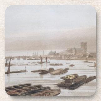 Westminster del puente de Waterloo, th de incorpor Posavasos
