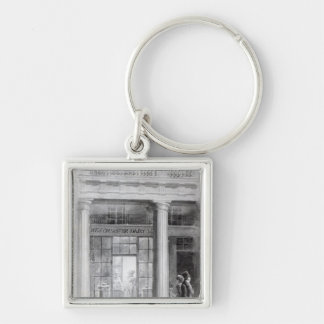 Westminster Diary, The Quadrant, Regent Street Silver-Colored Square Keychain