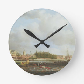Westminster from Lambeth, with the ceremonial barg Round Clock