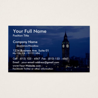 Westminster from the south bank of the Thames, Lon Business Card