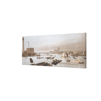 Westminster from Waterloo Bridge, incorporating th Canvas Print