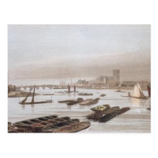 Westminster from Waterloo Bridge, incorporating th Postcard
