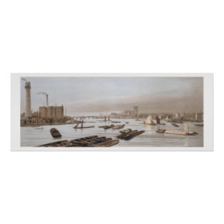 Westminster from Waterloo Bridge, incorporating th Poster