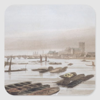 Westminster from Waterloo Bridge, incorporating th Square Sticker