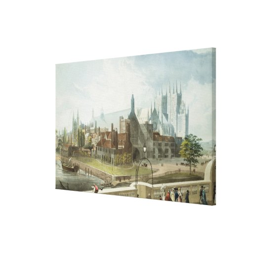 Westminster Hall and Abbey Gallery Wrapped Canvas