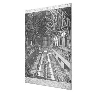 Westminster Hall during the celebrations after the Canvas Print