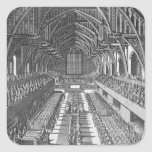 Westminster Hall during the celebrations after the Square Sticker