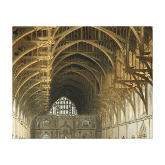 Westminster Hall, engraved by J. Bluck  pub Canvas Print