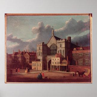Westminster Hall y nueva yarda del palacio Póster