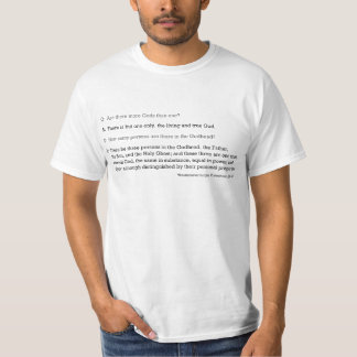 Westminster Larger Catechism Q8 & Q9 T-Shirt