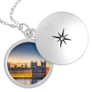 Westminster London Round Locket Necklace