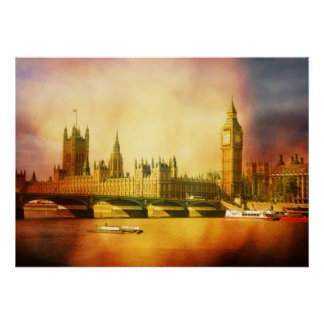 Westminster Palace and Bridge Print