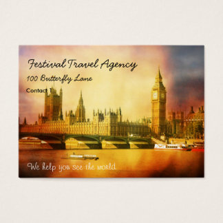 Westminster Palace and Bridge with Big Ben Business Card