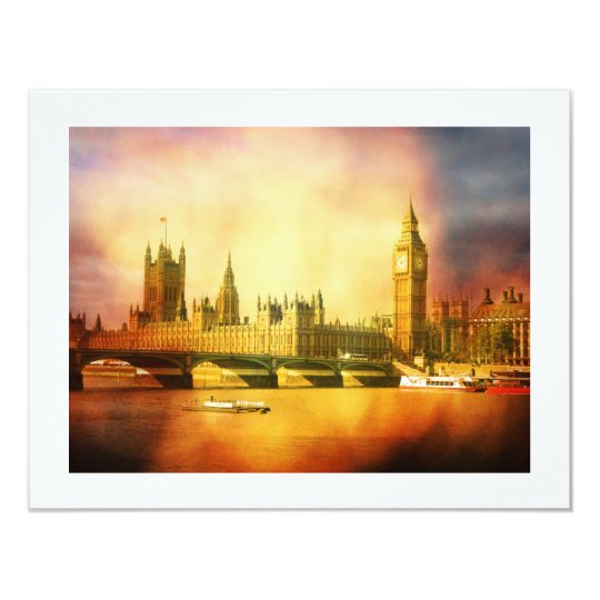 Westminster Palace and Bridge with Big Ben Card