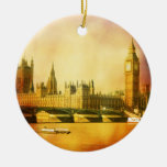 Westminster Palace and Bridge with Big Ben Ornaments