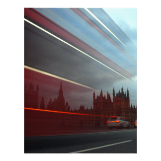 Westminster Palace London England with Red Bus Personalized Flyer