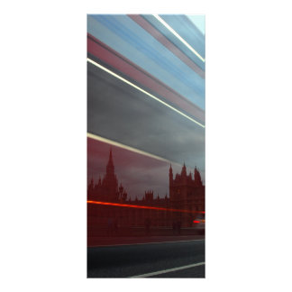 Westminster Palace London England with Red Bus Customized Rack Card