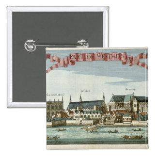 Westminster que muestra la abadía pin cuadrada 5 cm