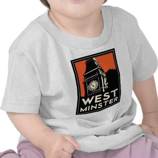 westminster retro art deco travel poster shirts