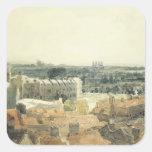 Westminster y Lambeth Pegatina Cuadrada