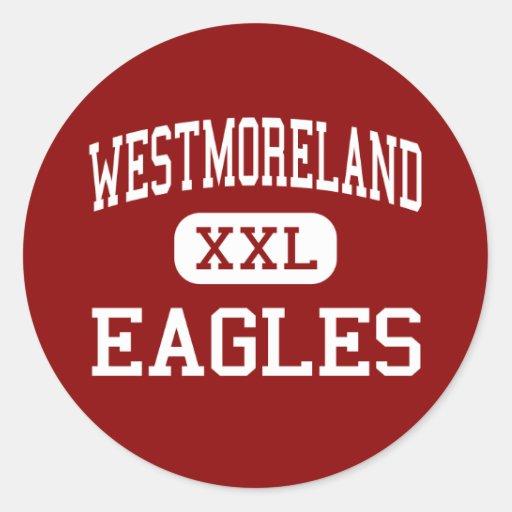 Westmoreland - Eagles - centro - Westmoreland Pegatina Redonda
