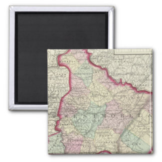 Westmoreland, Fayette counties 2 Inch Square Magnet