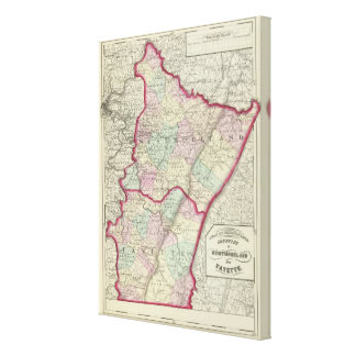 Westmoreland, Fayette counties Canvas Print