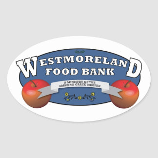 Westmoreland Food Bank Oval Sticker