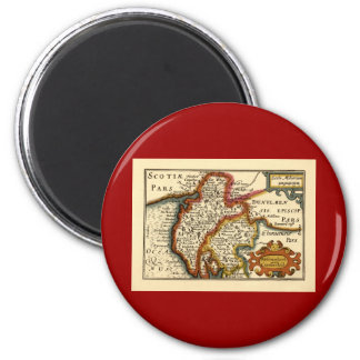"""Westmorland and Comberlad"" Old Cumbria County Map 2 Inch Round Magnet"