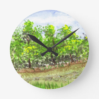 Weston Brook Round Clock
