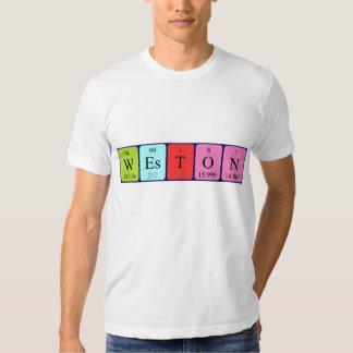 Weston periodic table name shirt