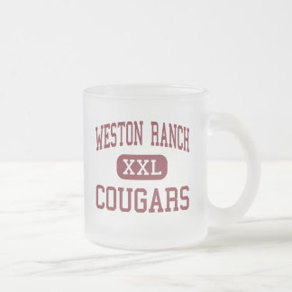 Weston Ranch - Cougars - High - Stockton Frosted Glass Coffee Mug