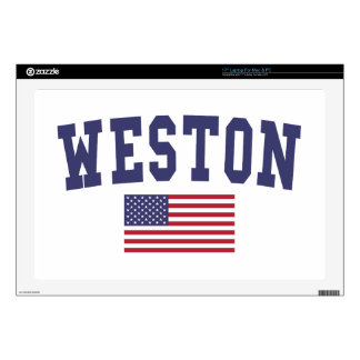 Weston US Flag Decal For Laptop