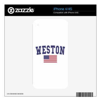 Weston US Flag Decal For The iPhone 4S