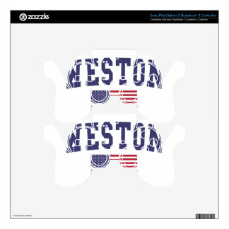 Weston US Flag PS3 Controller Skins